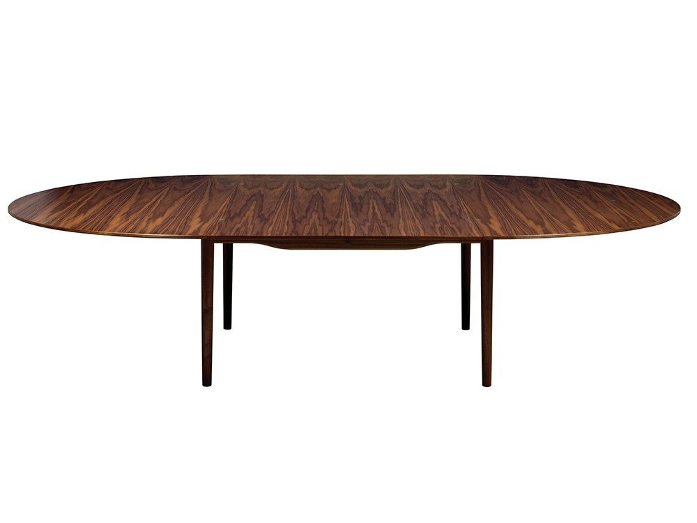 Oval wooden table silver by onecollection design finn juhl for Table design oval