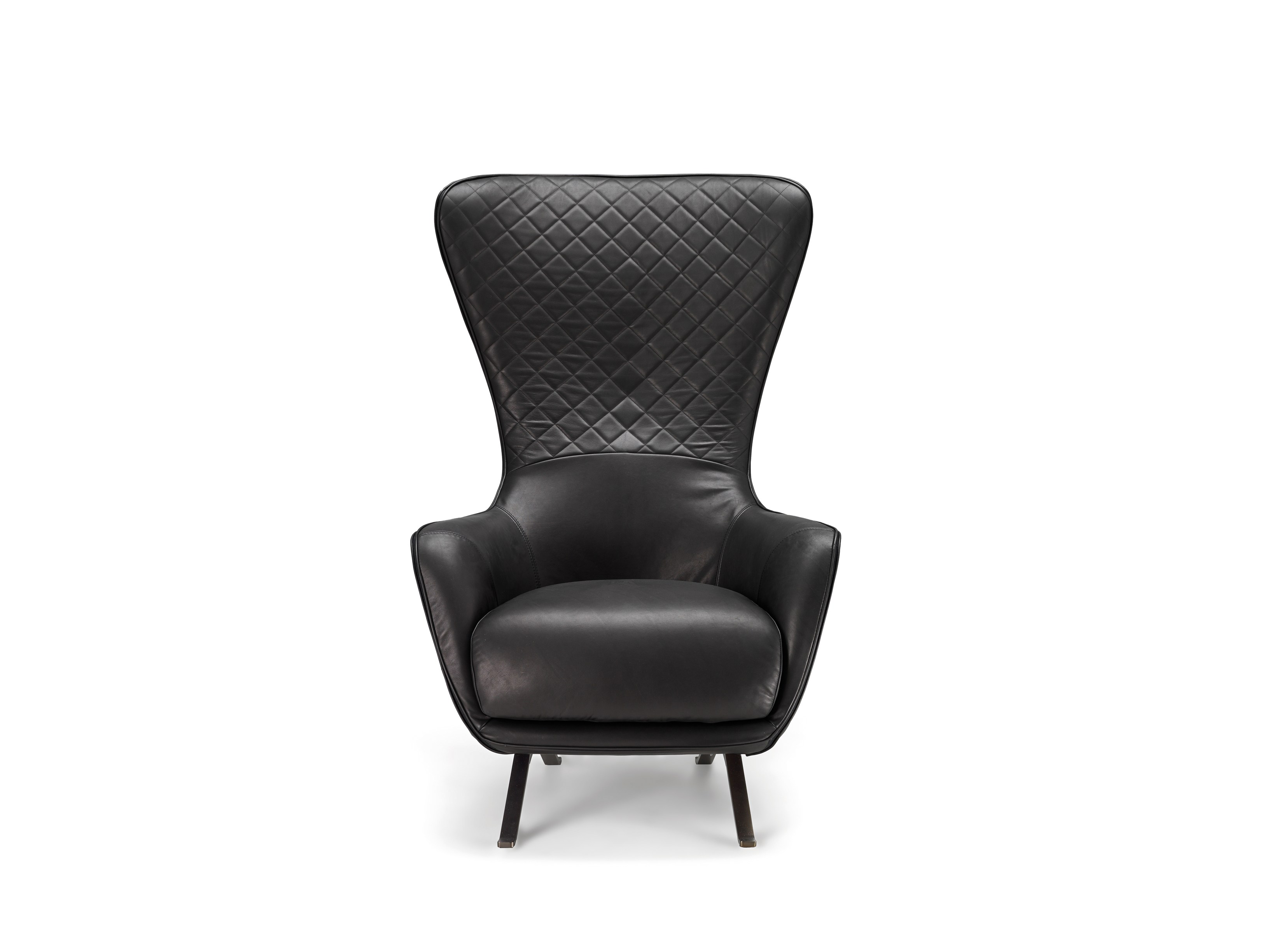 high back leather armchair sin seaty by arketipo design