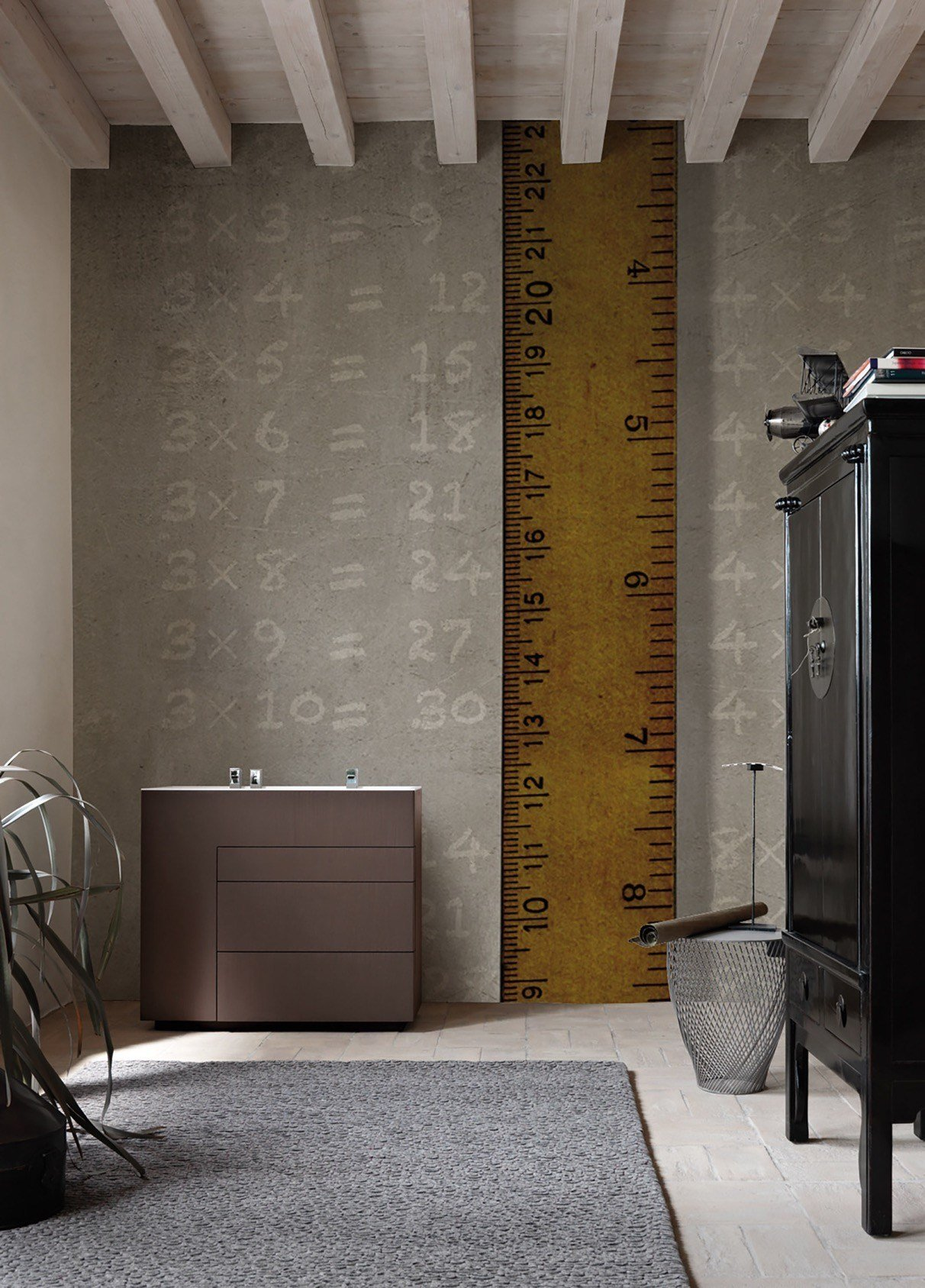 Panoramic writing wallpaper sizeless inkiostro bianco collection ...