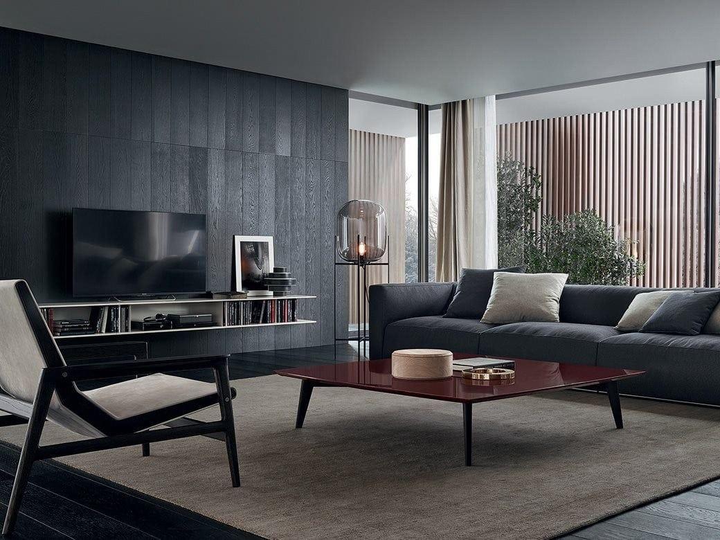 Modulare tv  wohnwand aus holz skip by poliform design studio kairos