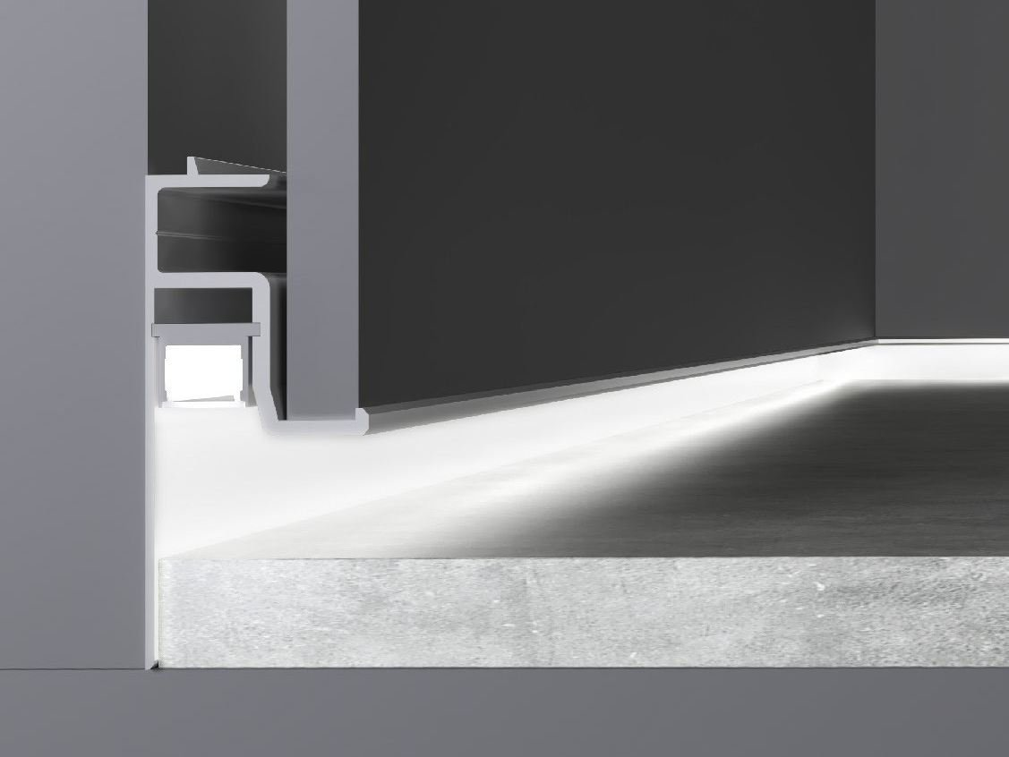 Built-in Linear lighting profile for LED modules SKIRTING by Olev by CLM Illu...
