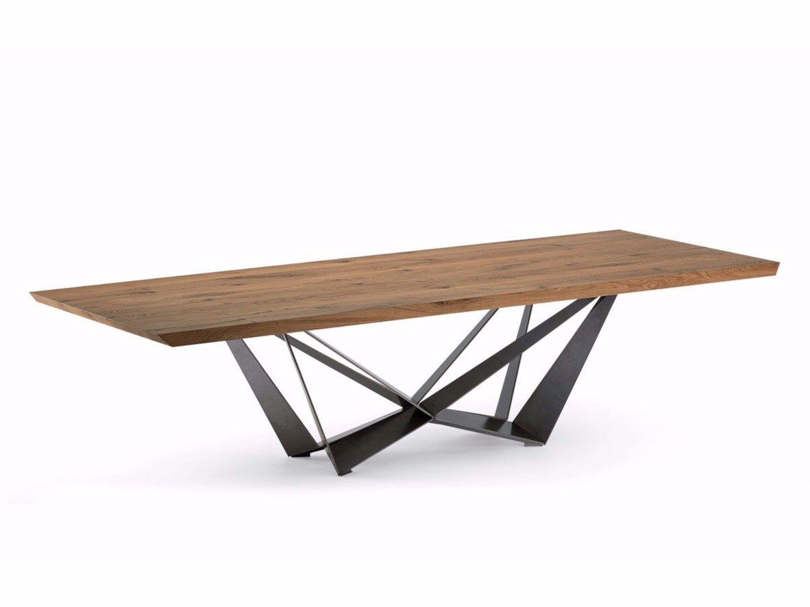 Tavolo rettangolare in legno skorpio wood by cattelan for Tisch design andrea