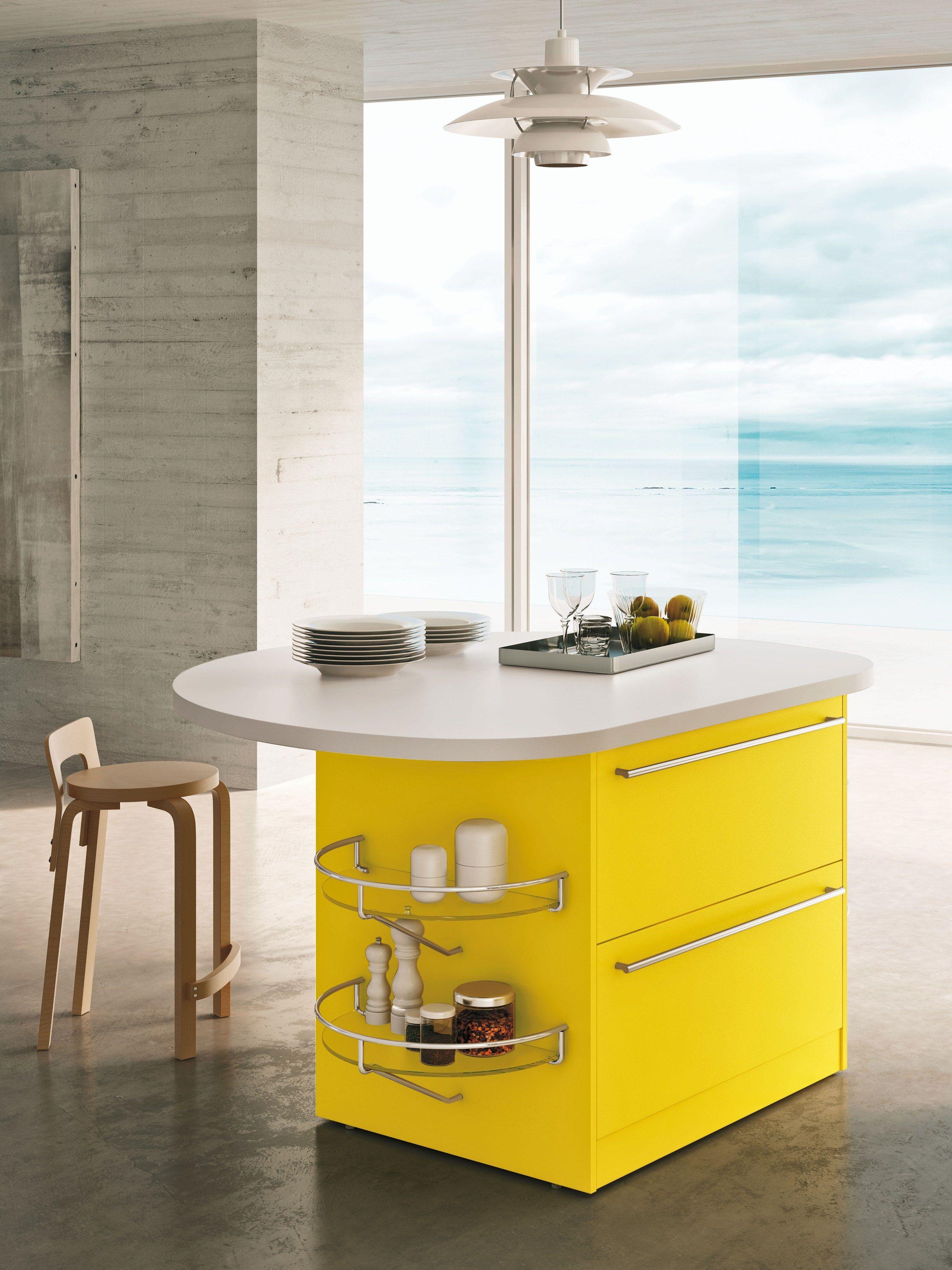 Skyline 2.0 cuisine avec îlot by snaidero design lucci orlandini