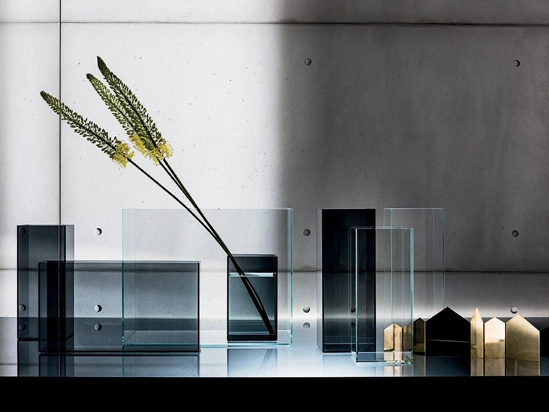 Glass Vase Skyline By Sovet Italia Design Gianluigi Landoni