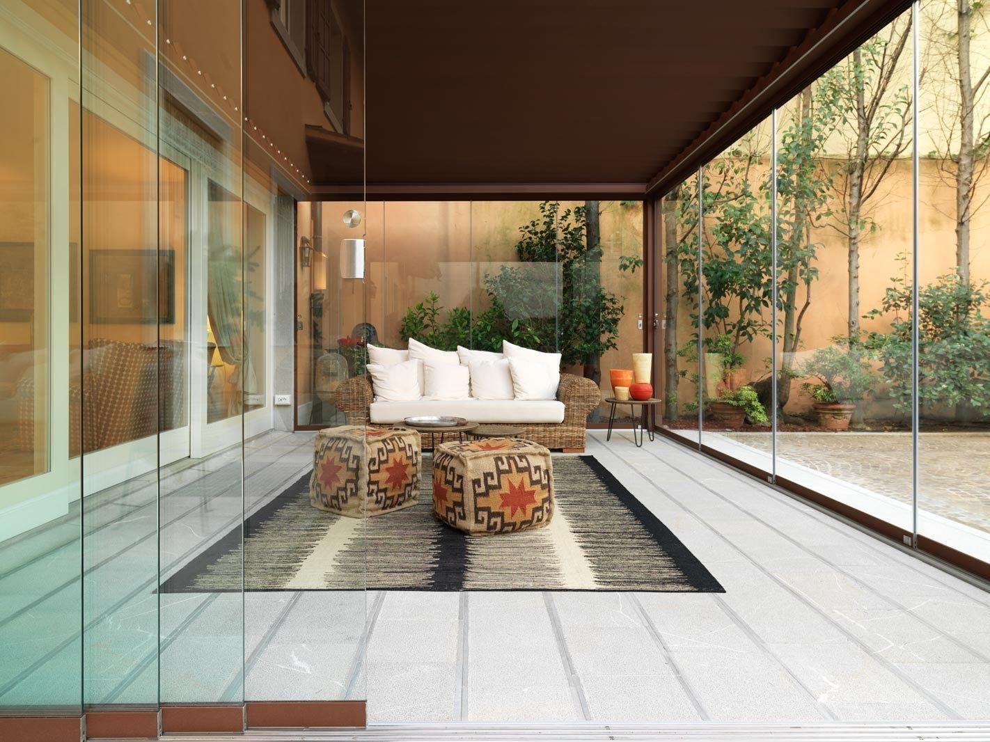 Giardino d 39 inverno con porte scorrevoli slide glass by - Giardino d inverno prezzo ...