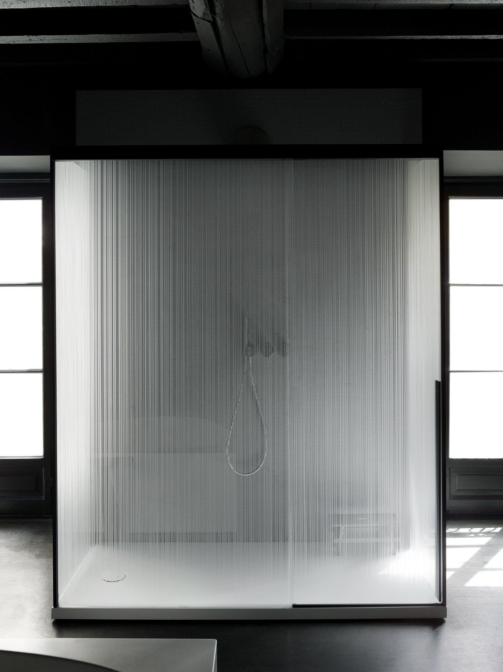Rectangular Glass Shower Cabin With Sliding Door Sliding