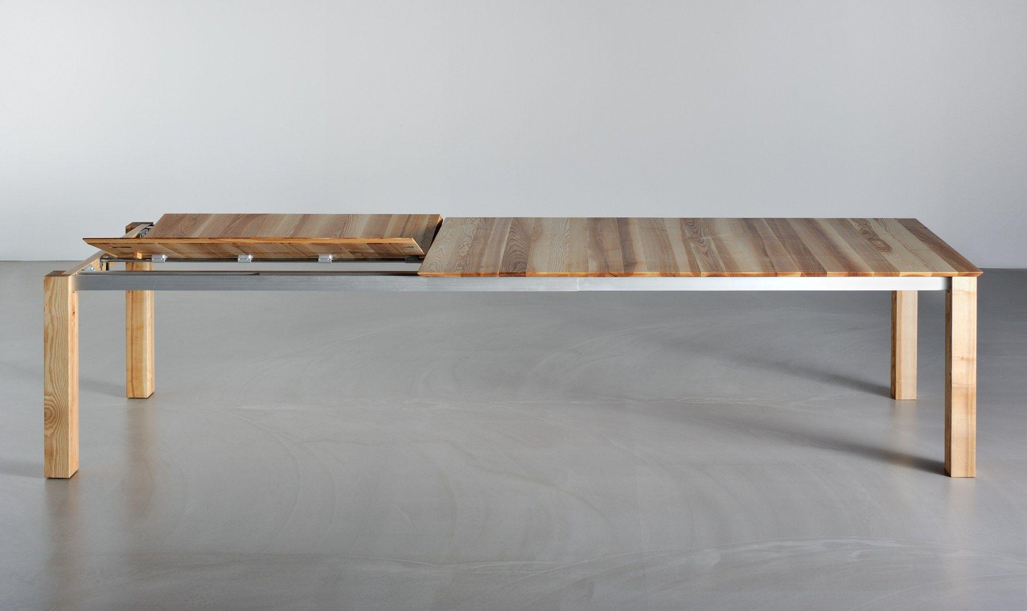 Ausziehbarer rechteckiger Tisch aus massivem Holz SLIM by vitamin ...