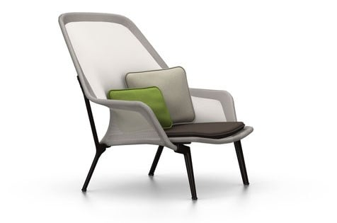 poltrona in tessuto slow chair by vitra design ronan erwan bouroullec. Black Bedroom Furniture Sets. Home Design Ideas
