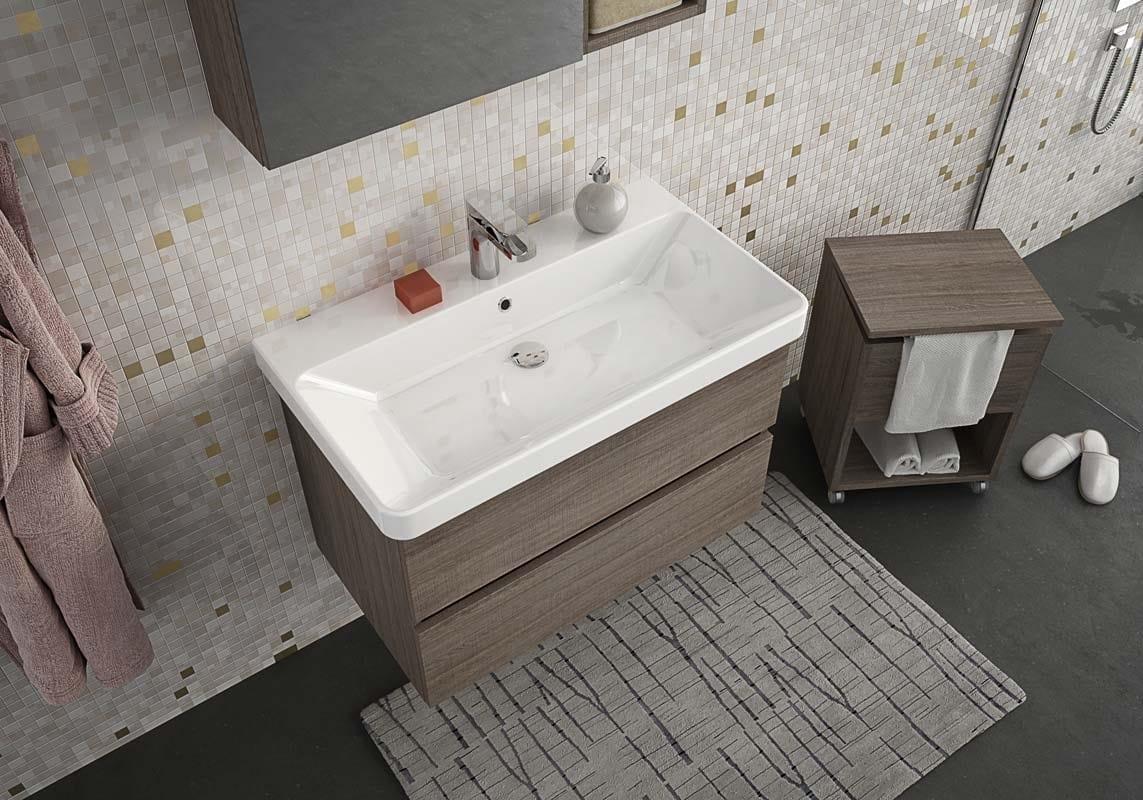 Meuble sous vasque mural avec tiroirs soho s1 by legnobagno - Produttori mobili bagno ...