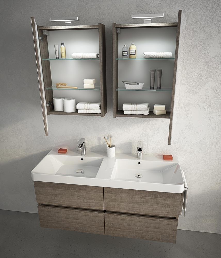 Mobile lavabo sospeso con cassetti soho s16 by legnobagno - Lavabo sospeso con mobile ...
