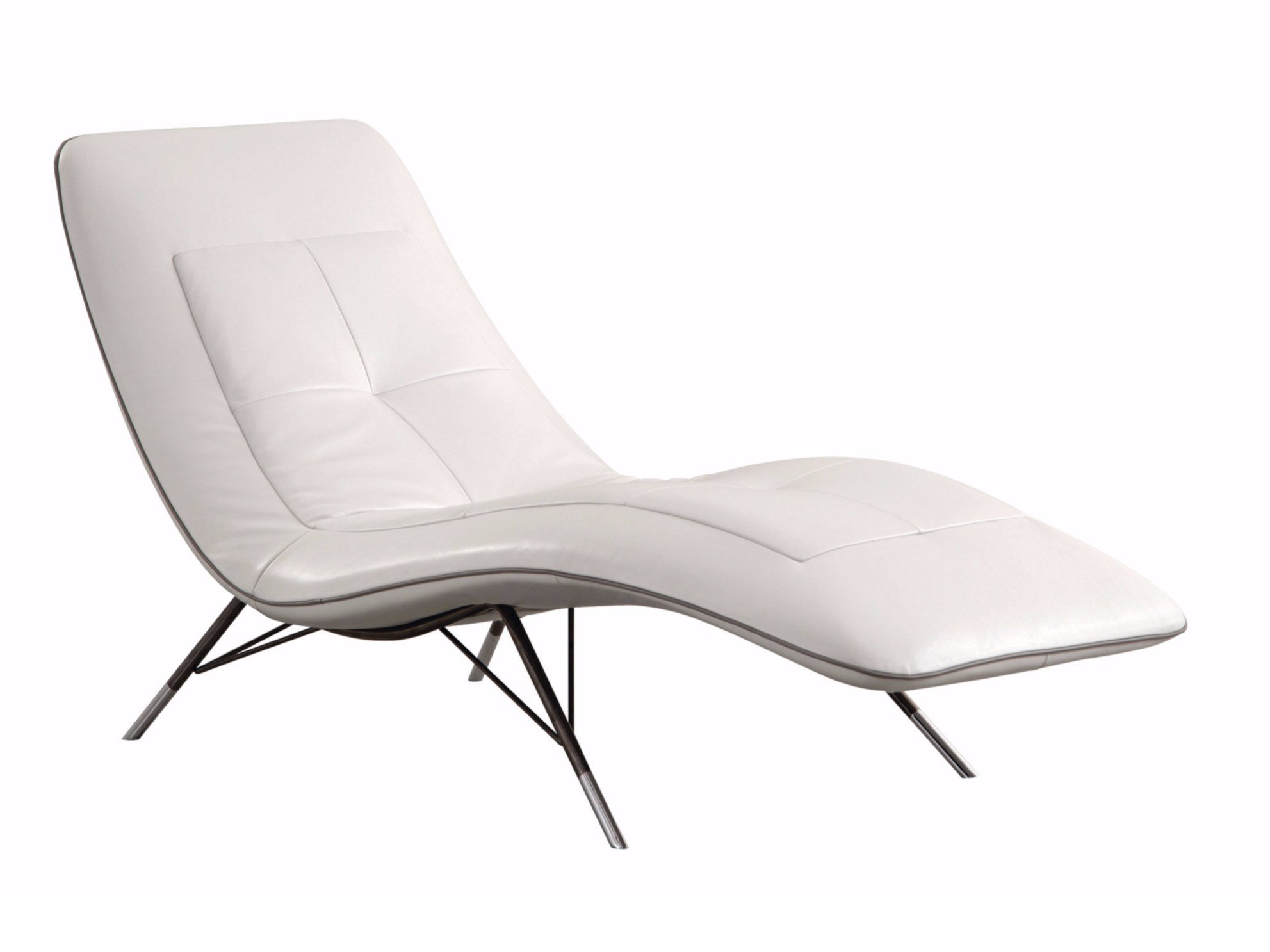 chaise longue estofada de pele solaris by roche bobois. Black Bedroom Furniture Sets. Home Design Ideas
