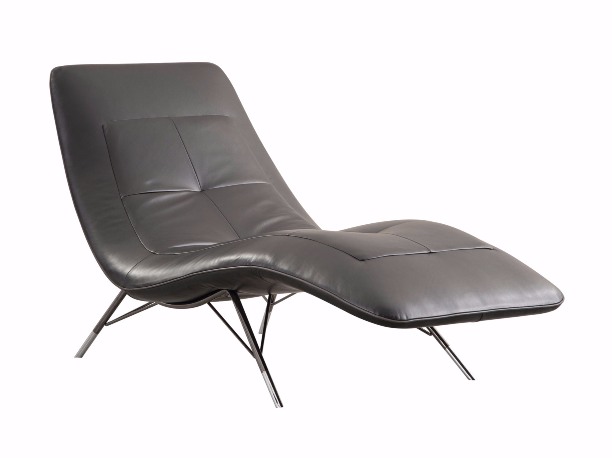 Chaise longue estofada de pele solaris by roche bobois for Chaise longue roche bobois