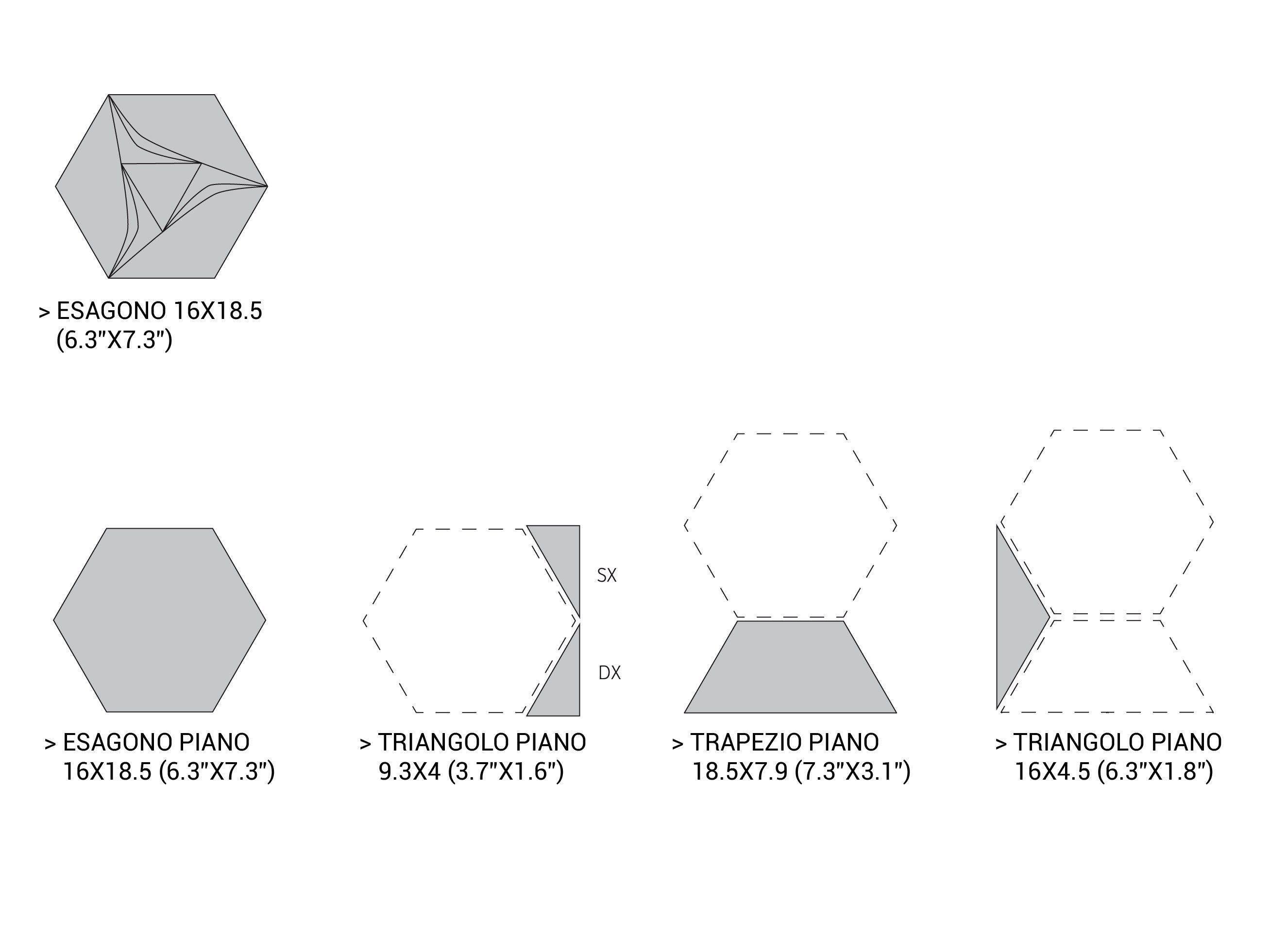 Piastrelle con superficie tridimensionale in ceramica bicottura per interni C...