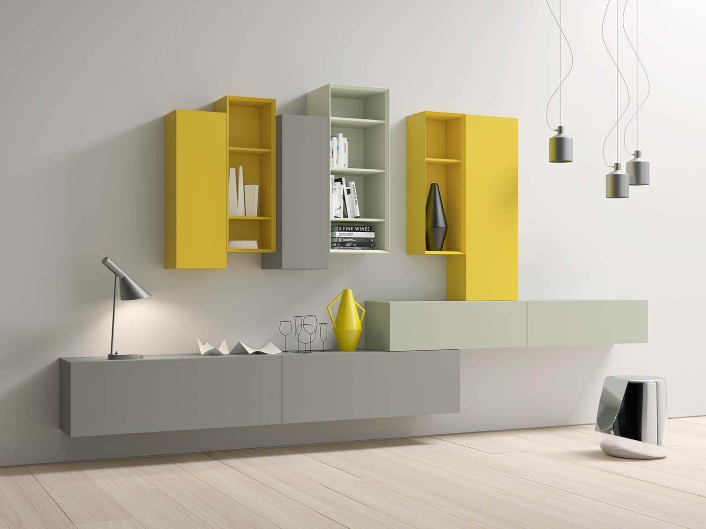 Mobile contenitore componibile laccato modulare spazio mod for Arredo casa gaiarine