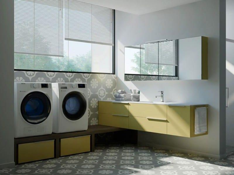 SPAZIO TIME 07 Mobile lavanderia con lavatoio by IdeaGroup
