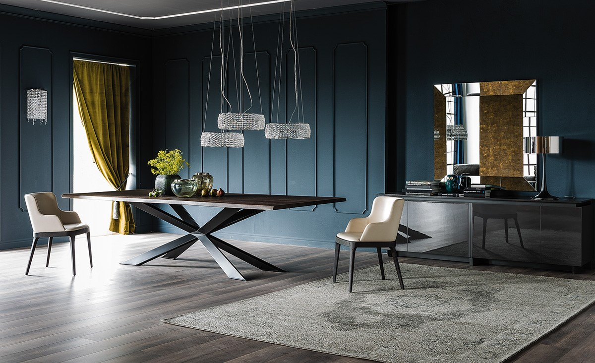 rectangular wooden table spyder wood by cattelan italia. Black Bedroom Furniture Sets. Home Design Ideas