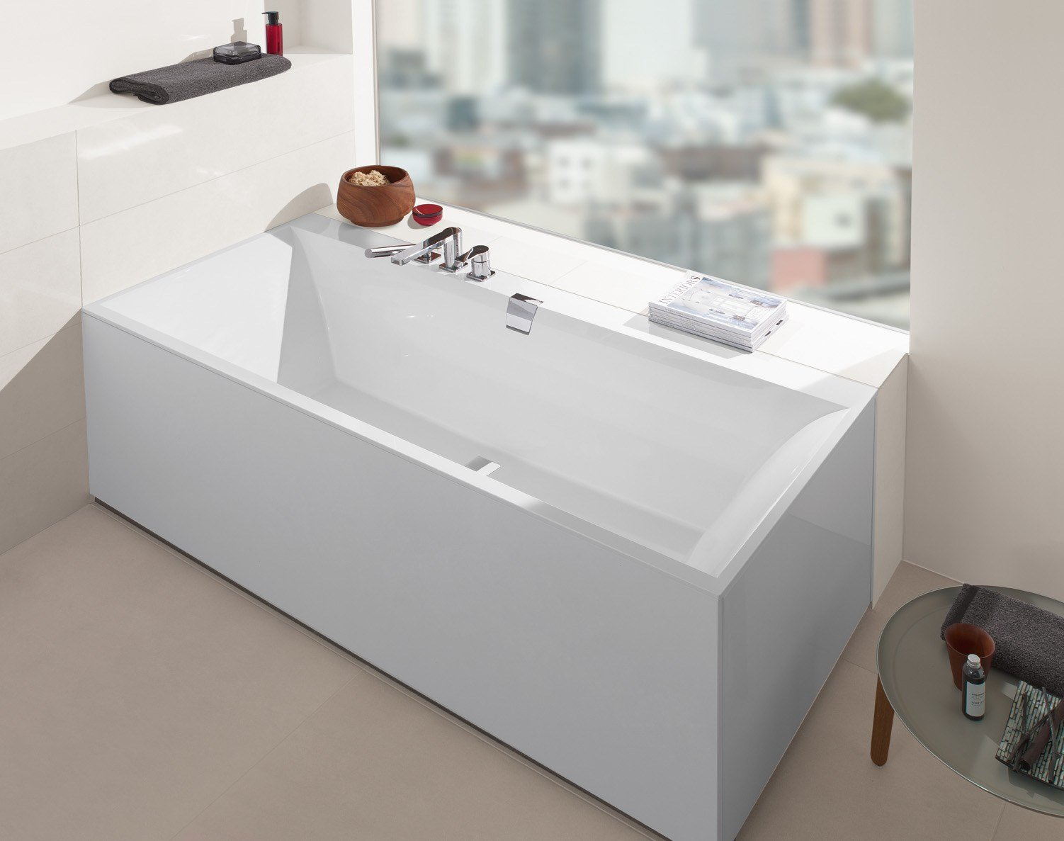 squaro edge 12 bathtub by villeroy boch. Black Bedroom Furniture Sets. Home Design Ideas