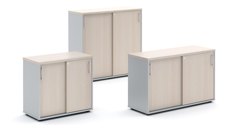 Standard mobile ufficio basso by mdd - Mobile basso ante scorrevoli ...