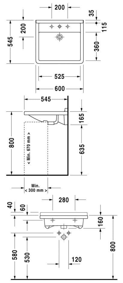 Starck 3 lavabo pour handicap s by duravit design philippe for Salle de bain handicape norme