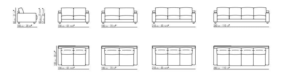 canap 4 places en tissu avec rev tement amovible status. Black Bedroom Furniture Sets. Home Design Ideas