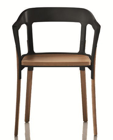 Steelwood chair by magis design ronan erwan bouroullec for Magis steelwood