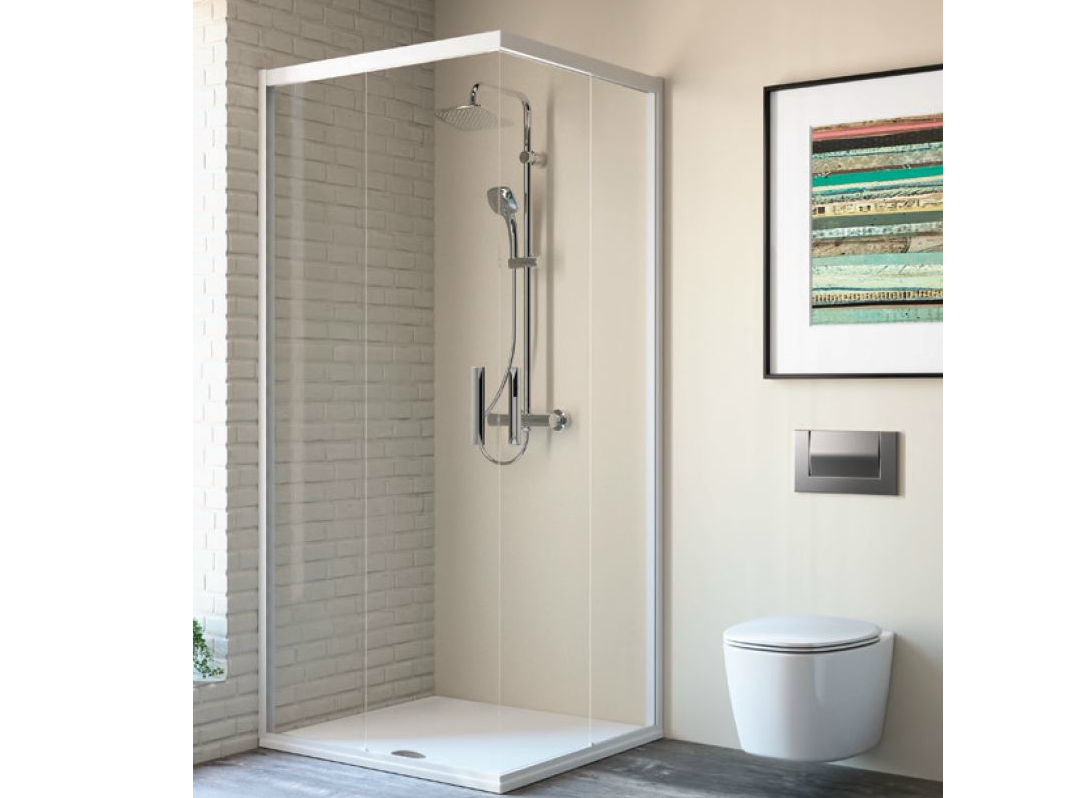 Box doccia angolare in vetro temperato con porte - Cabine doccia multifunzione ideal standard ...