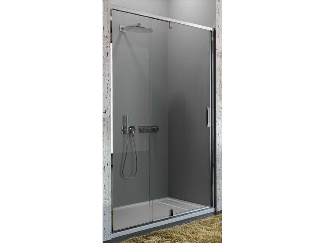 Box doccia in vetro temperato con porte pivotanti strada - Cabine doccia vetro ...