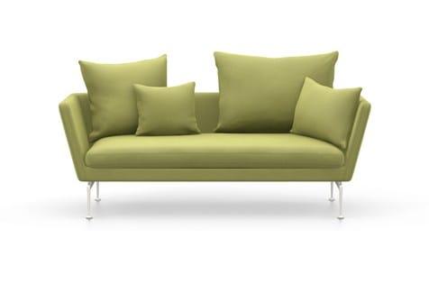 2 er sofa mit abnehmbarem bezug suita sofa 2 seater with pointed cushion by vitra design antonio. Black Bedroom Furniture Sets. Home Design Ideas