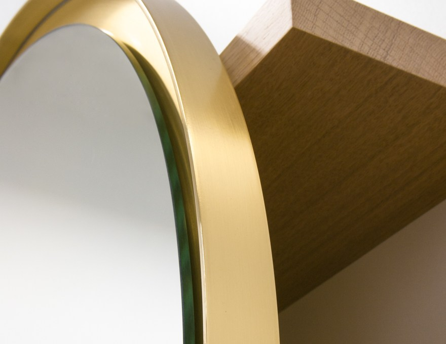 miroir rond mural avec cadre sunset by malherbe edition design f lsom. Black Bedroom Furniture Sets. Home Design Ideas