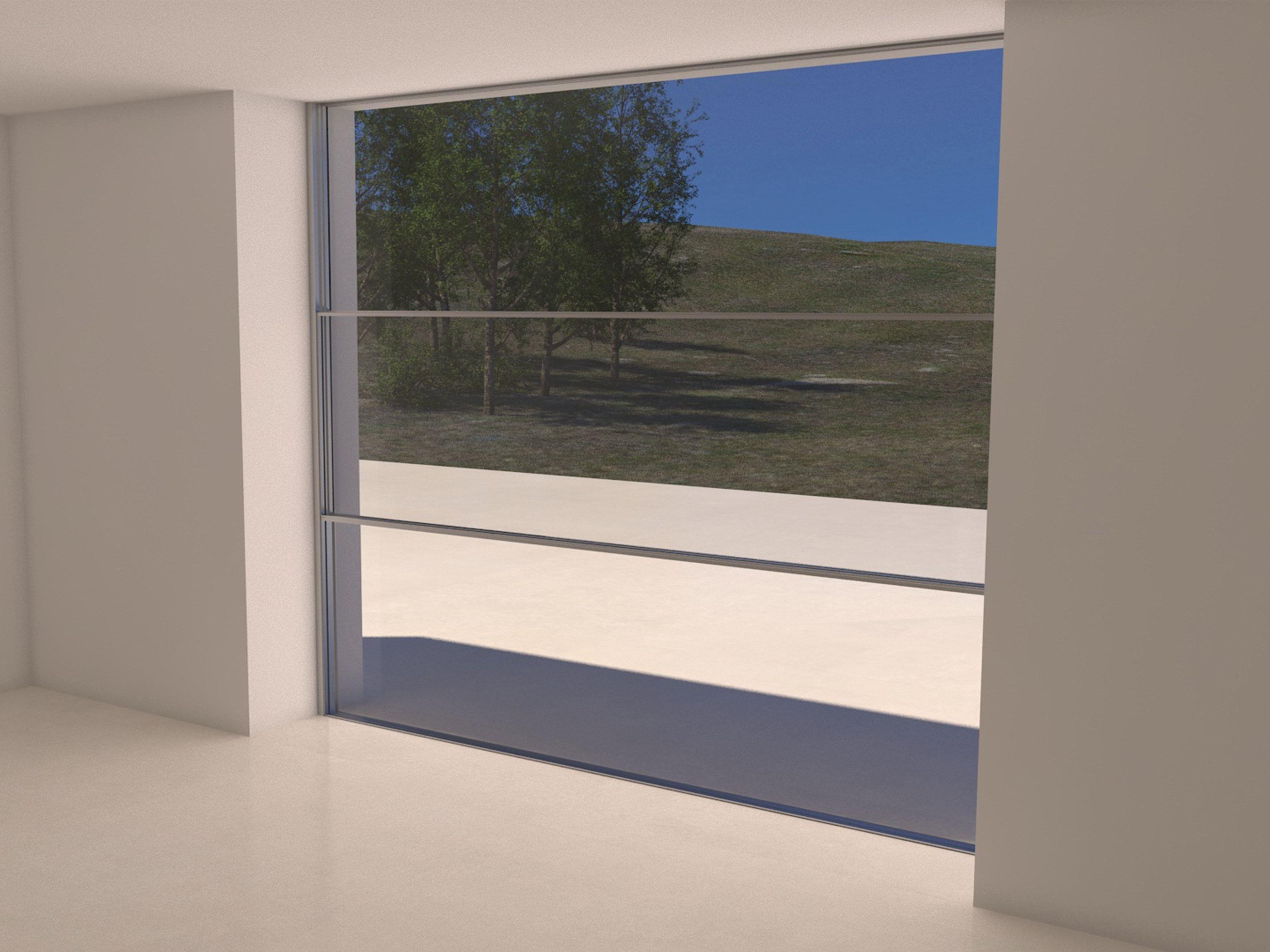 Sistema scorrevole verticale in alluminio sistema di for Finestra scorrevole verticale