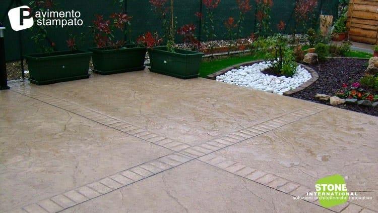 Pavimento continuo de hormigón para exterior Stamped flooring by ...