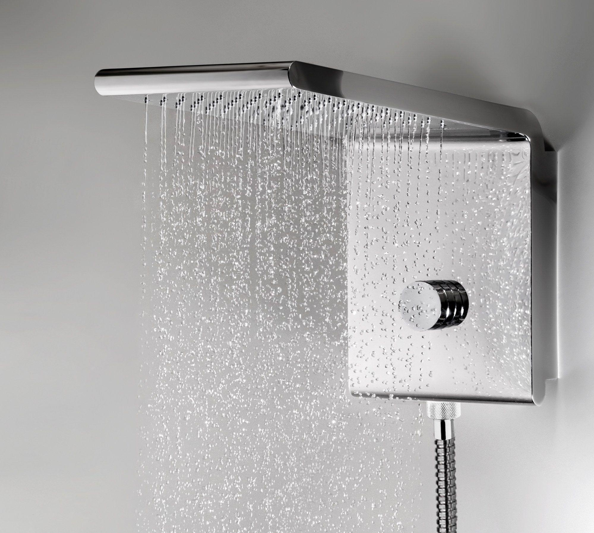 Soffione a cascata a muro a pioggia in acciaio inox in - Soffione a cascata ...