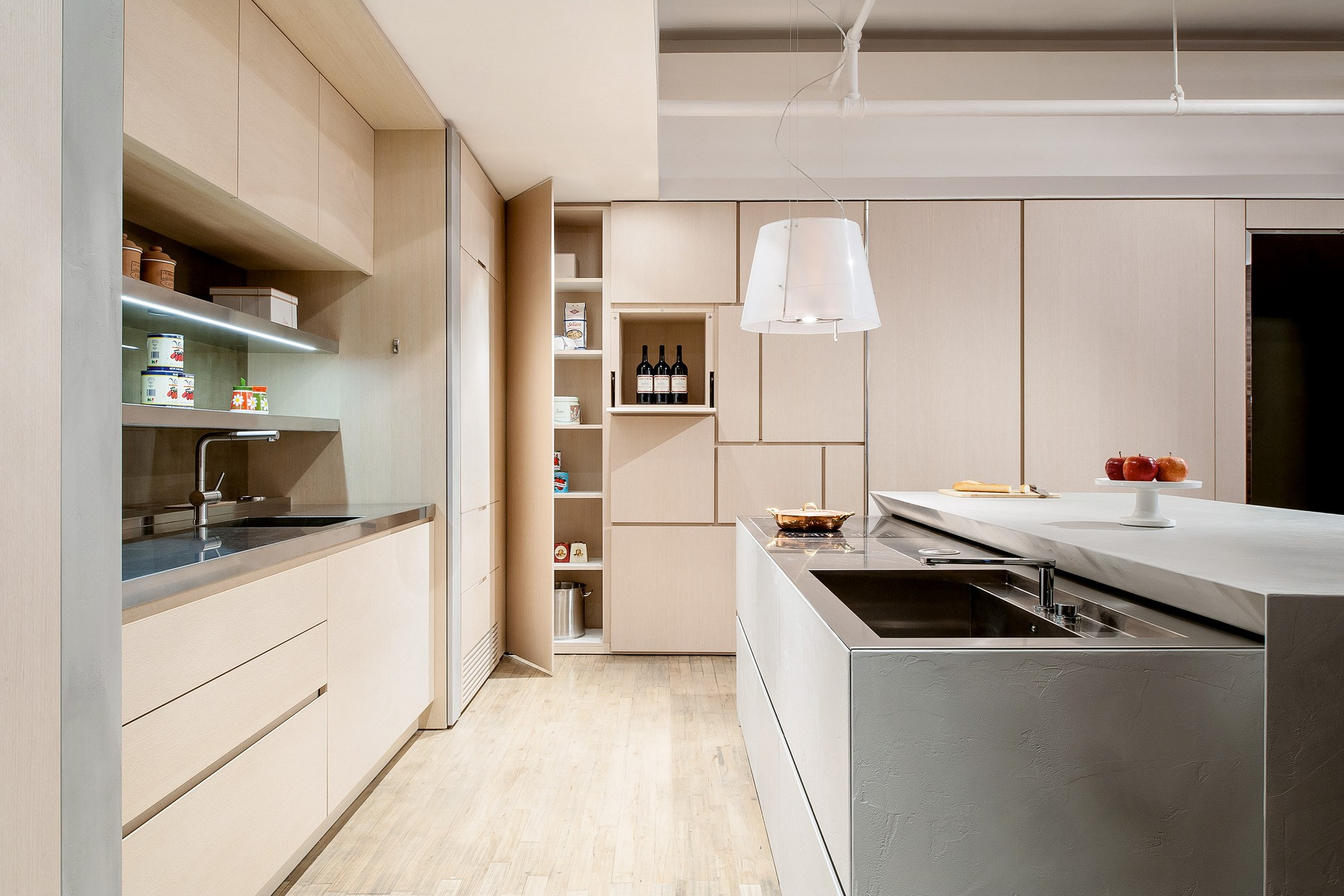 t45 evo wooden kitchen by tm italia cucine