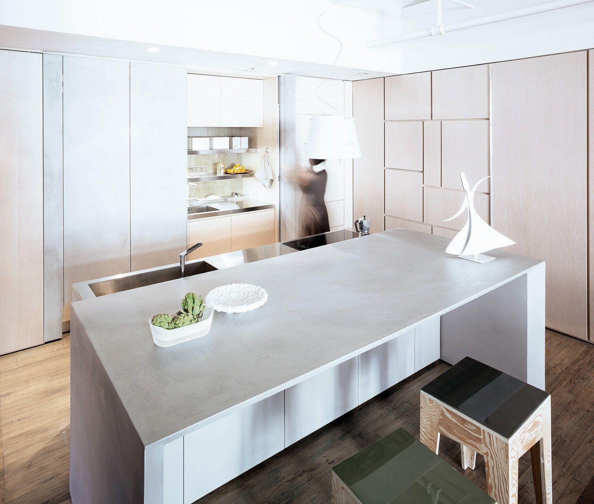 Cucina con isola T45 EVO Cucina in legno - TM Italia Cucine