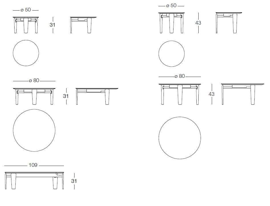 Tavolino Basso Rotondo In Marmo Tablet By Arflex Design