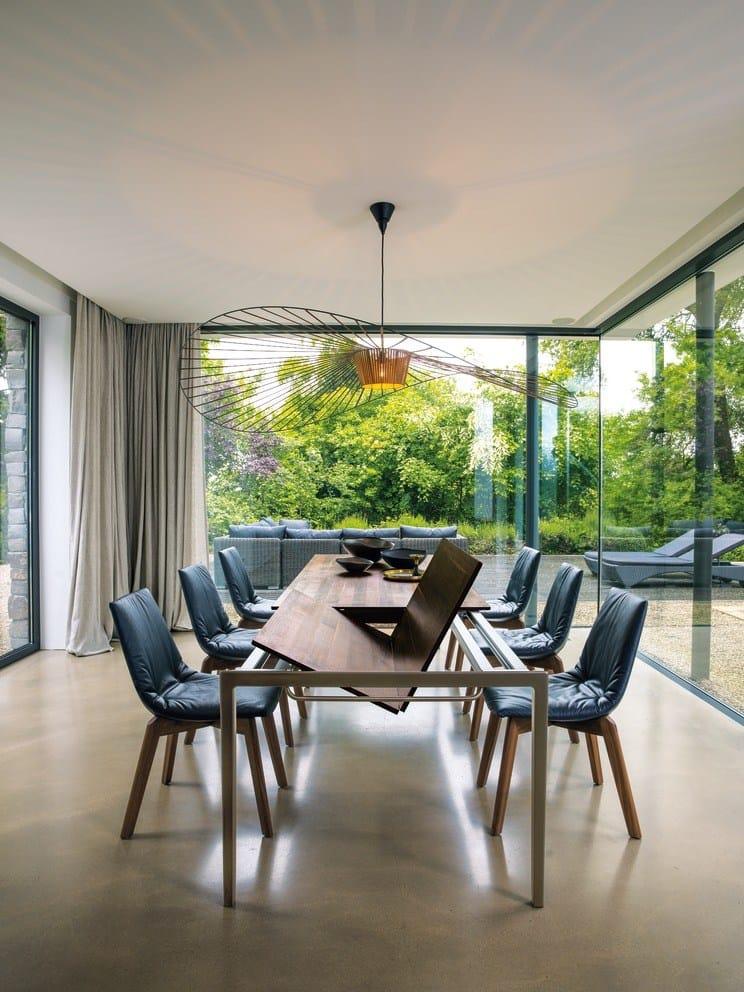 extending steel and wood table tak by team 7 nat rlich wohnen design jacob strobel. Black Bedroom Furniture Sets. Home Design Ideas