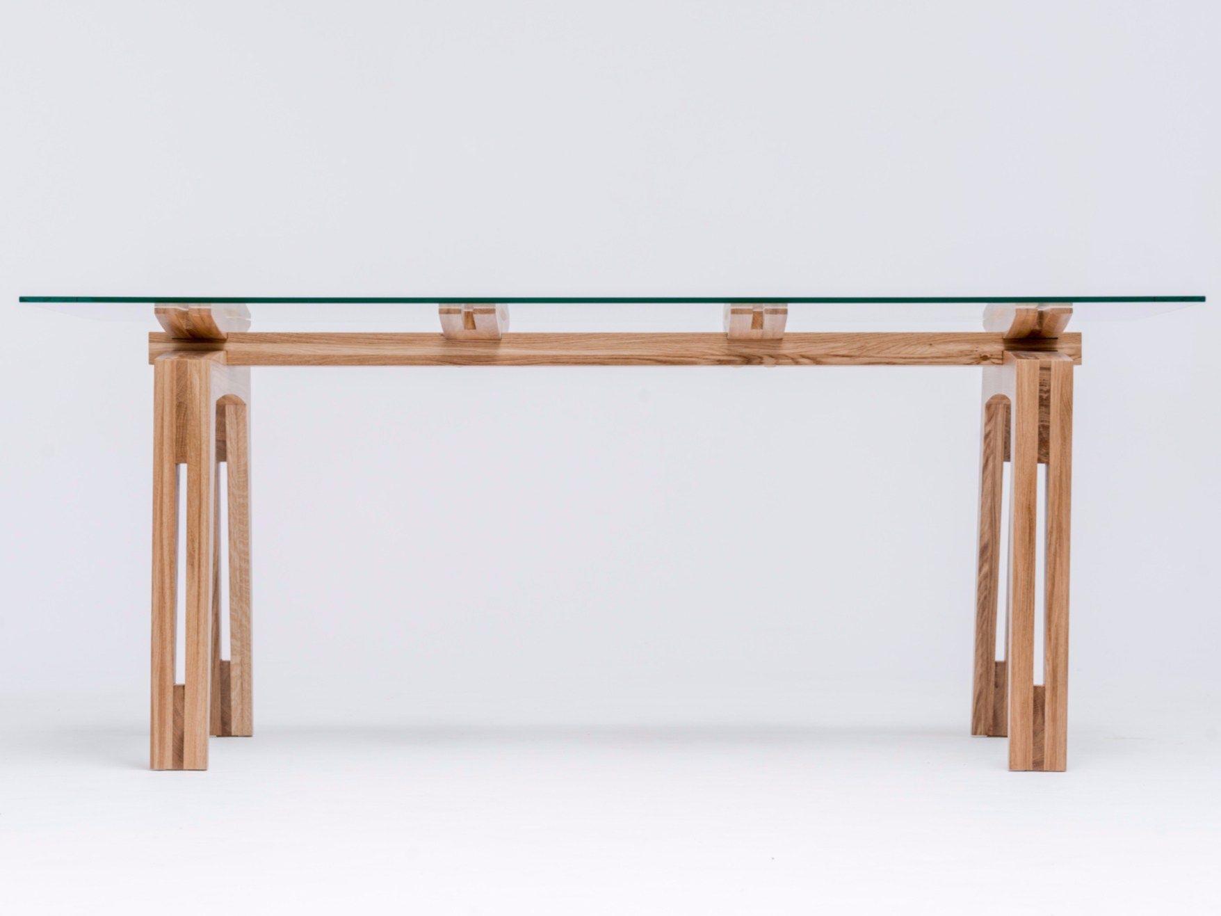 Tavolo da pranzo rettangolare in legno e vetro TAMAZO AIR by ST FURNITURE