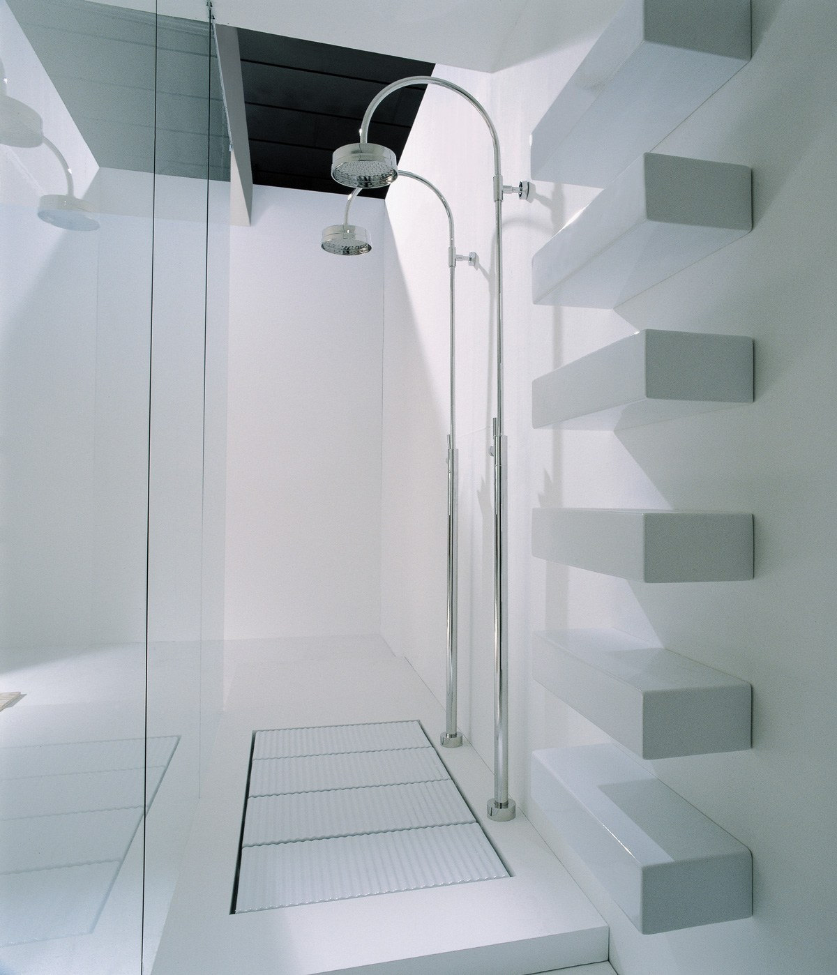 Tatami piatto doccia modulare by ceramica flaminia design for Pavimento giapponese