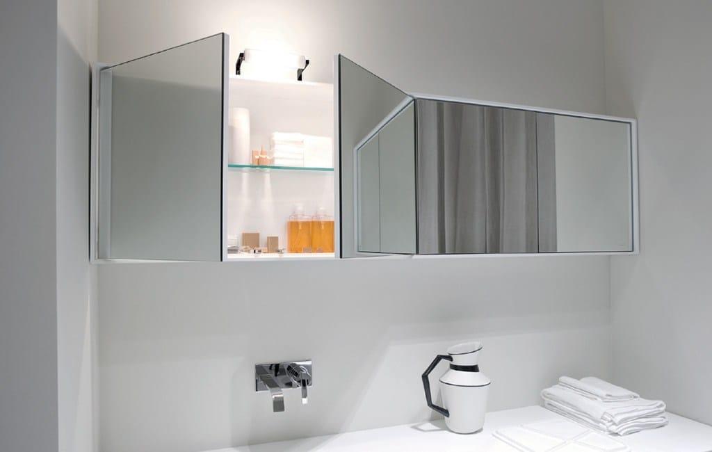 Bad oberschrank mit spiegel teatro by antonio lupi design for Design spiegel bad