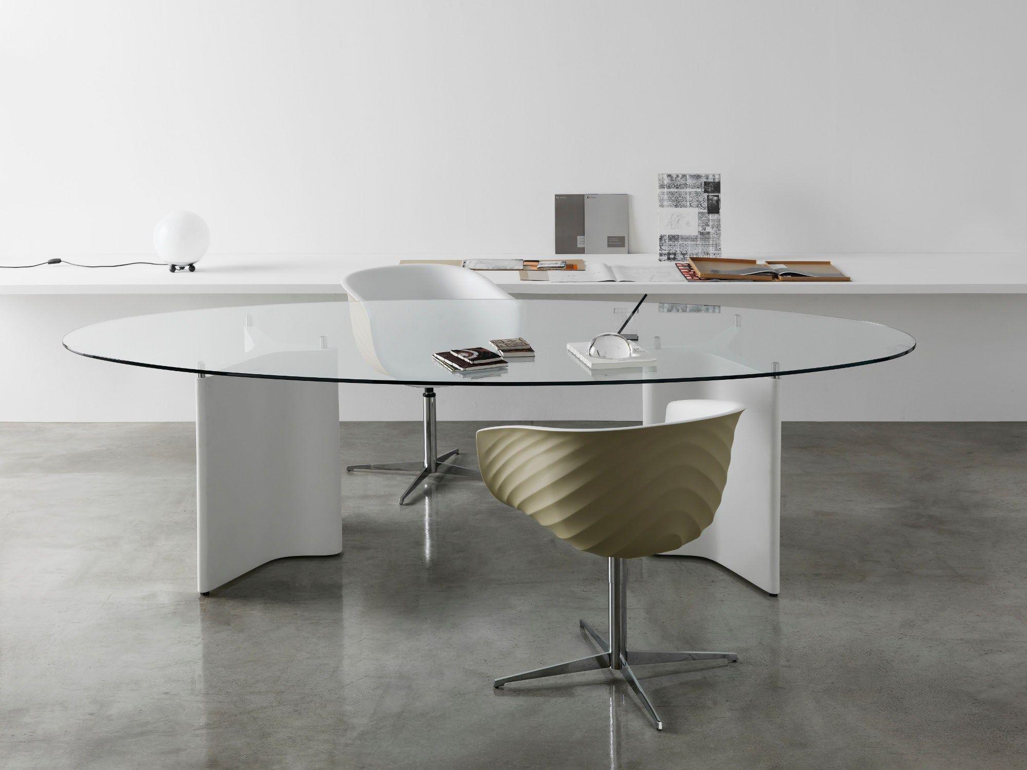 Tee tavolo ovale by segis design bartoli design - Tavolo di vetro ovale ...