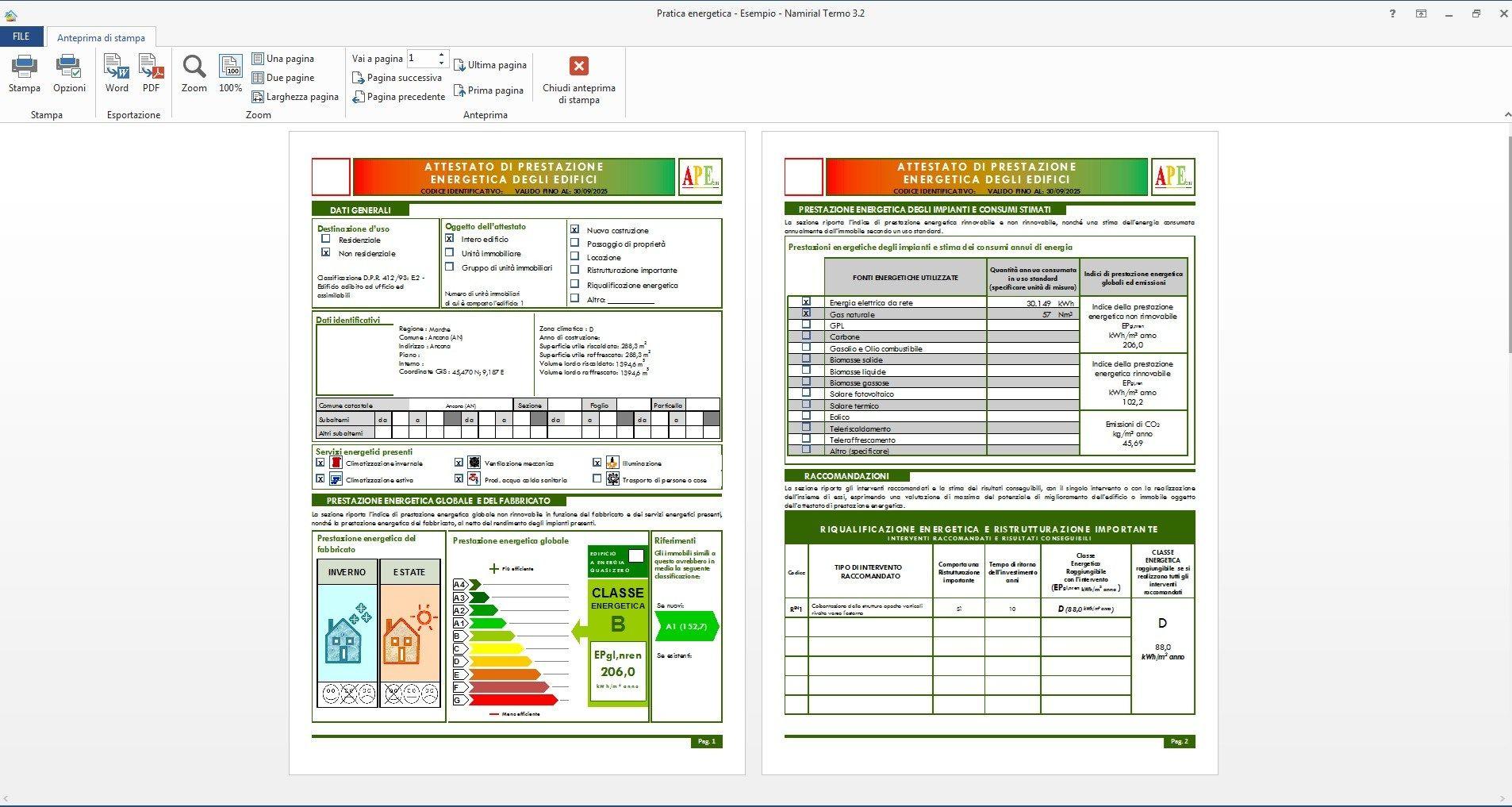 Certificazione energetica 91 dlgs 311 06 termo by for Miglior software di progettazione edilizia