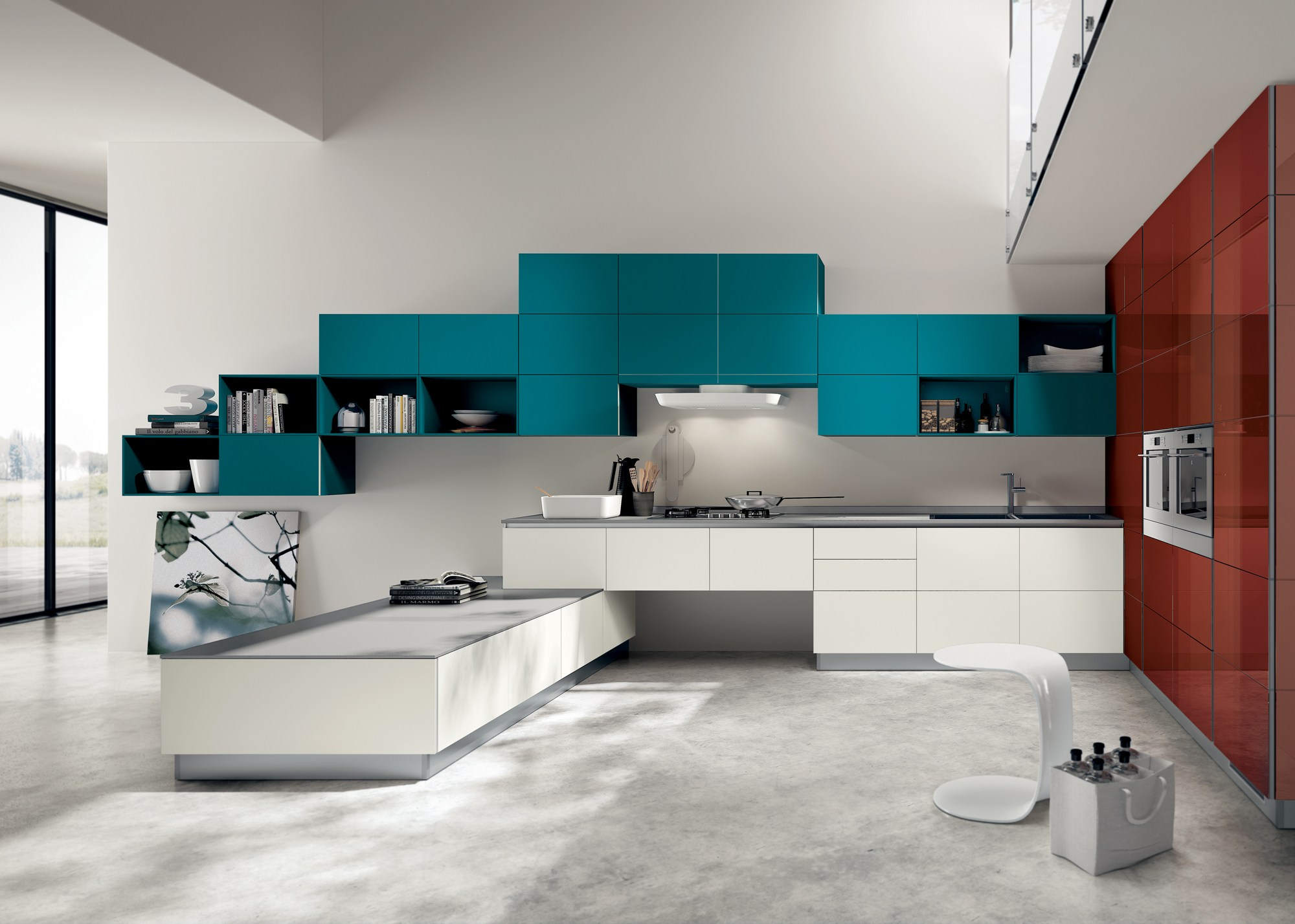 Stunning Decorare Parete Cucina Contemporary - bakeroffroad.us ...