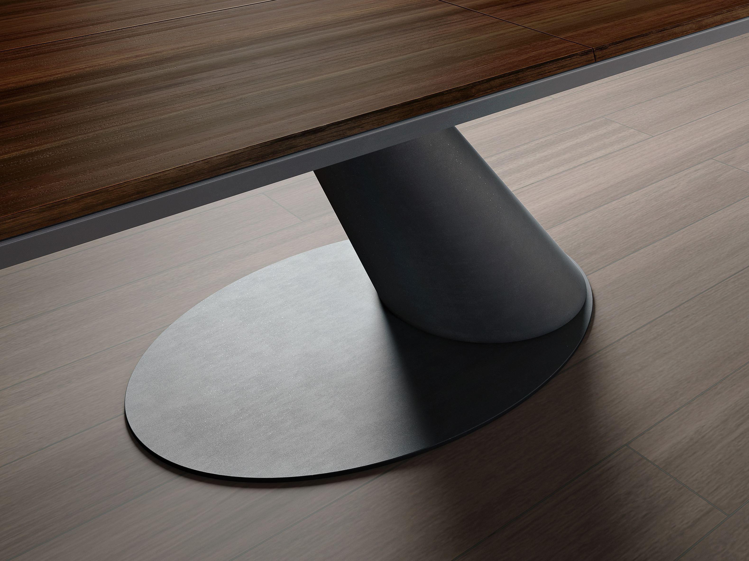 ausziehbarer rechteckiger esstisch aus holz thor by ozzio. Black Bedroom Furniture Sets. Home Design Ideas