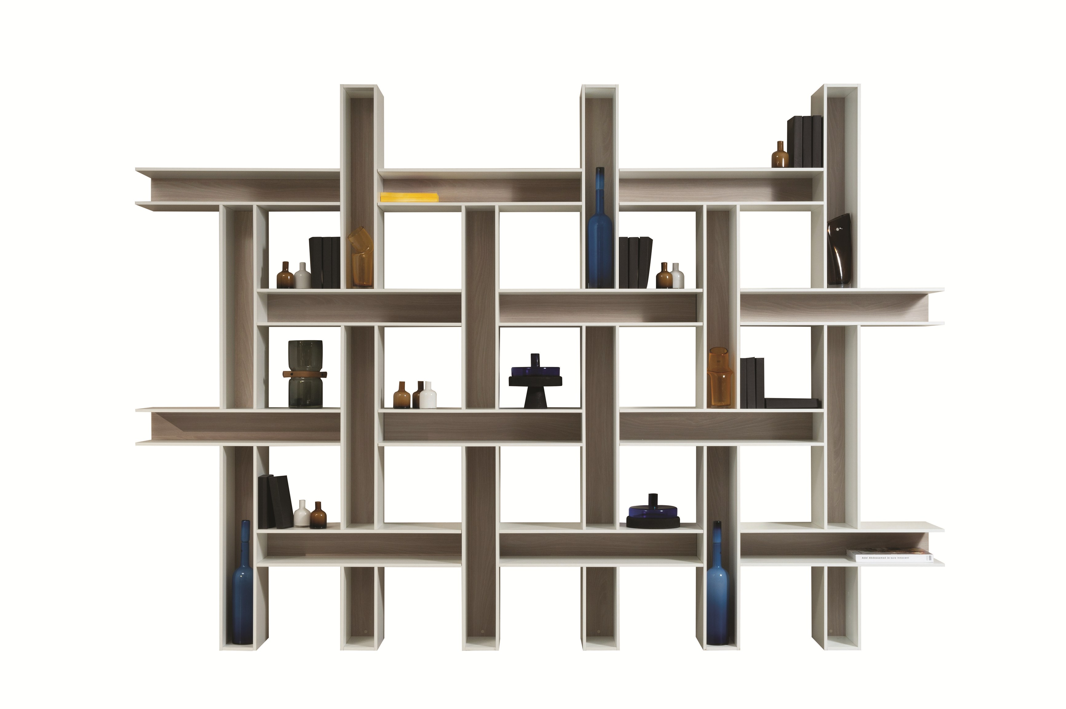 biblioth que ouverte modulable tiss by roche bobois design bina baitel. Black Bedroom Furniture Sets. Home Design Ideas