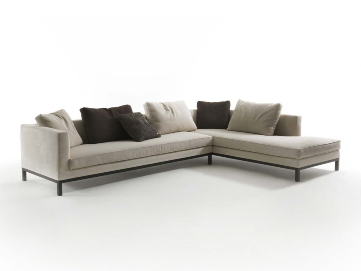 Sectional fabric sofa TITO by FRIGERIO POLTRONE E DIVANI