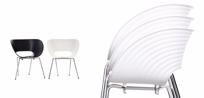 silla apilable de polipropileno tom vac by vitra dise o ron arad. Black Bedroom Furniture Sets. Home Design Ideas