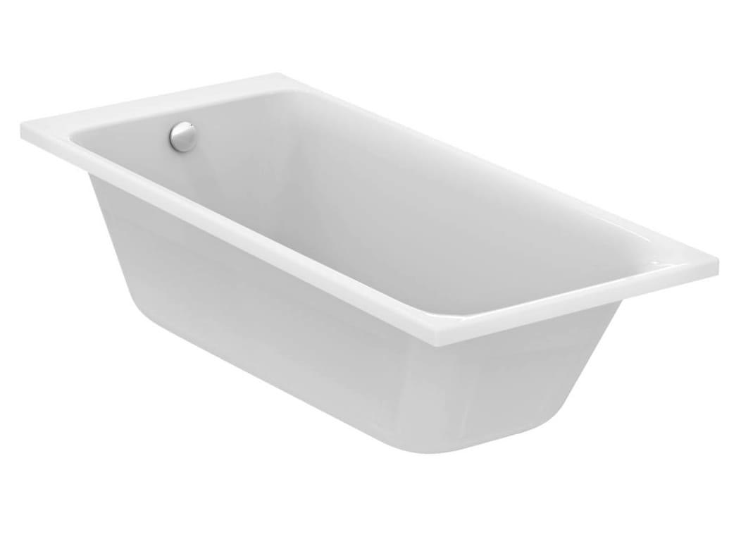 Vasca da bagno rettangolare in ceramica da incasso tonic - Vasche da bagno in ceramica ...