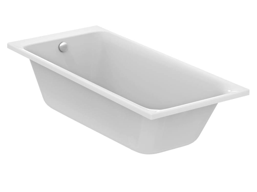 Vasca da bagno rettangolare in ceramica da incasso tonic ii 1800 x 800 e3974 by ideal standard - Vasca da bagno ceramica ...