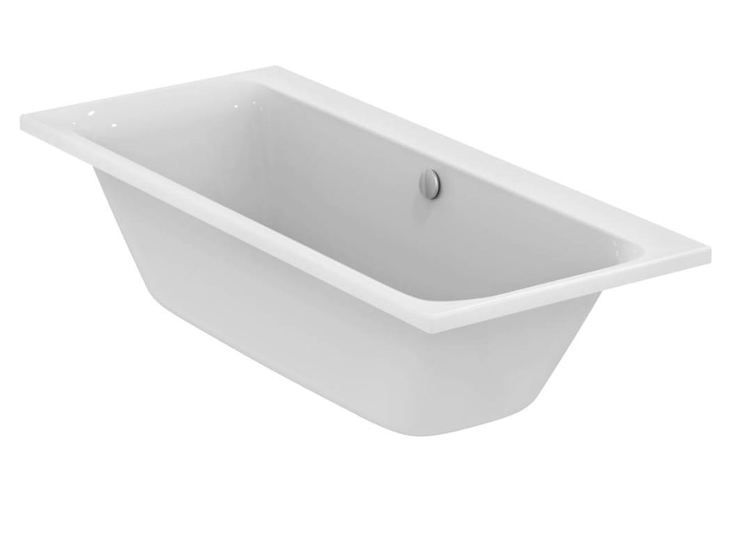 Vasca da bagno rettangolare in ceramica da incasso tonic ii 1800 x 800 e3976 by ideal standard - Vasca da bagno ceramica ...