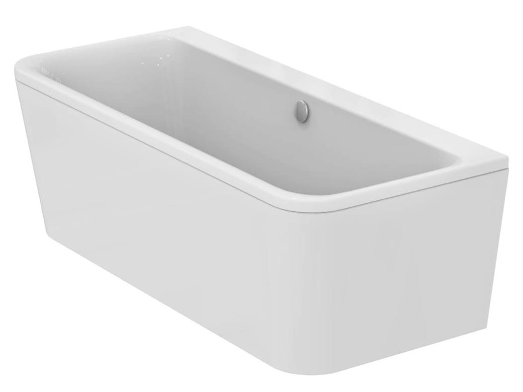 Vasca da bagno rettangolare a centro parete tonic ii - Vasca da bagno prezzi ideal standard ...